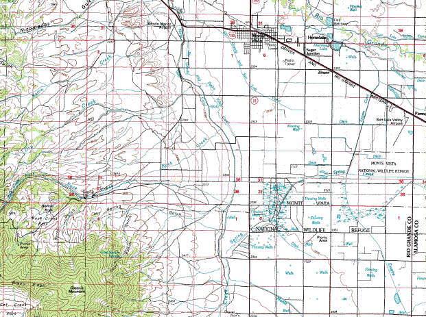 Greenie Mt Monte Vista Topo Map In The San Luis Valley Of Colorado