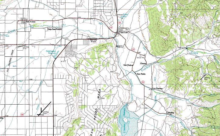 San Luis Area Topo Map In The San Luis Valley Of Colorado